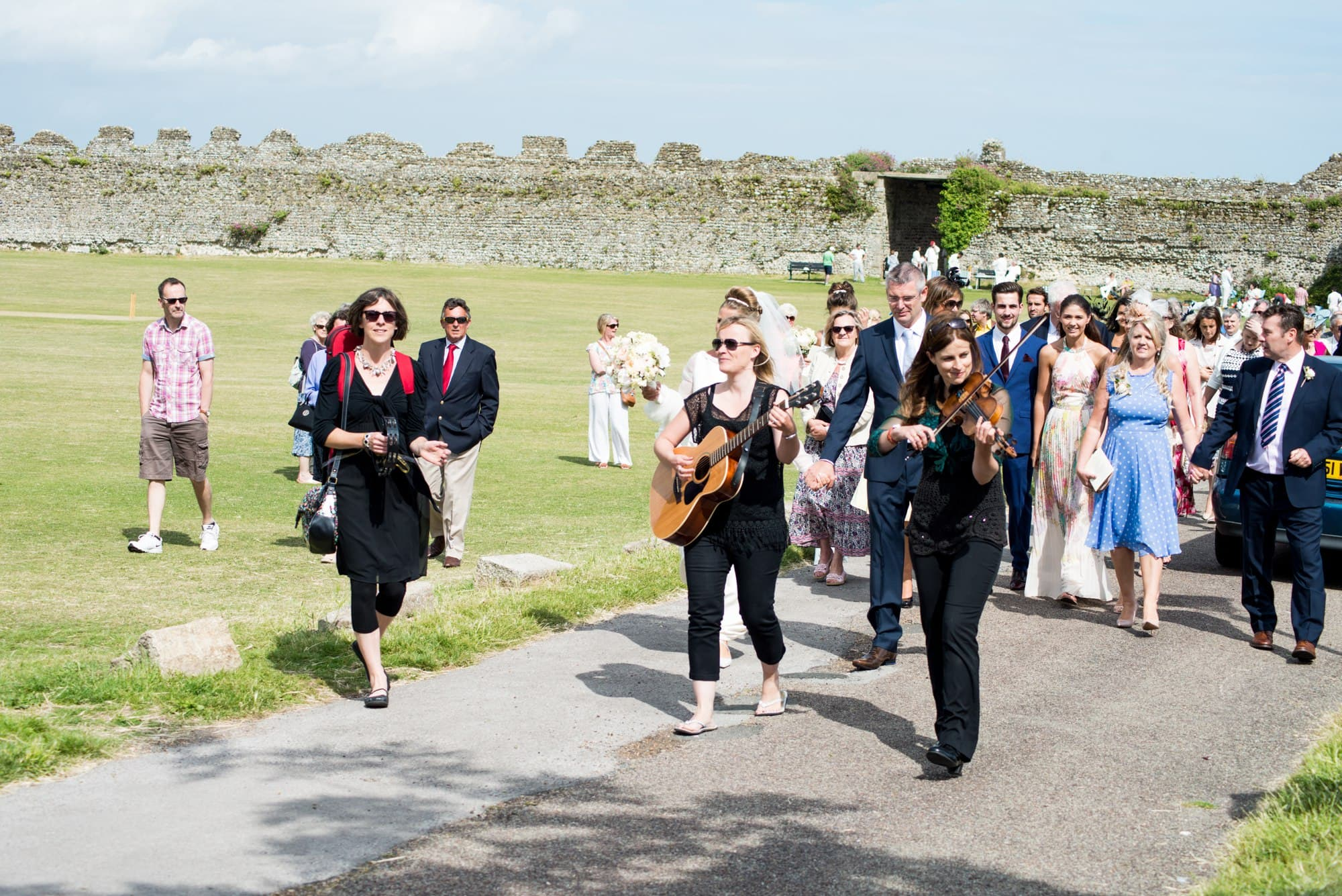 A Folk Trio at Portchester Castle